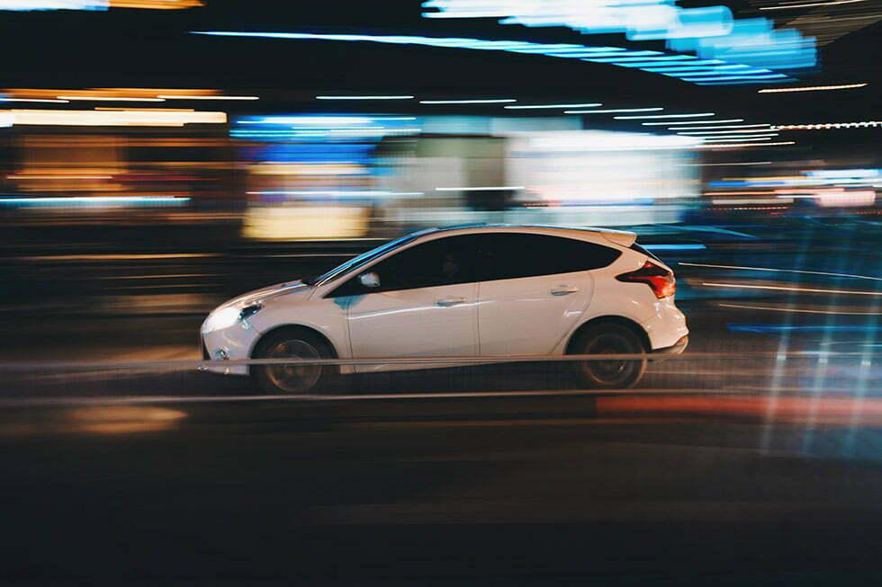 Fast white car